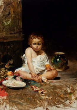 El niño de la granada - Roma, 1885 - Joaquín Sorolla y Bastida