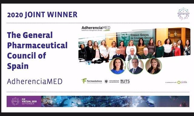 Premio proyecto Consejo AdherenciaMED