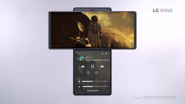 LG Wing, el smartphone con doble pantalla giratoria y un joystick para controlar