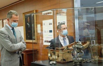El Rey Felipe VI inaugura la exposición con motivo del 150º aniversario del Instituto Geográfico Nacional