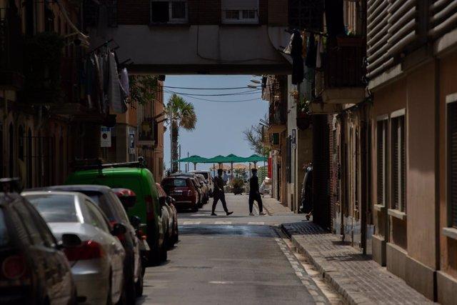 Un carrer a Barcelona. Catalunya (Espanya), 26 de maig del 2020.