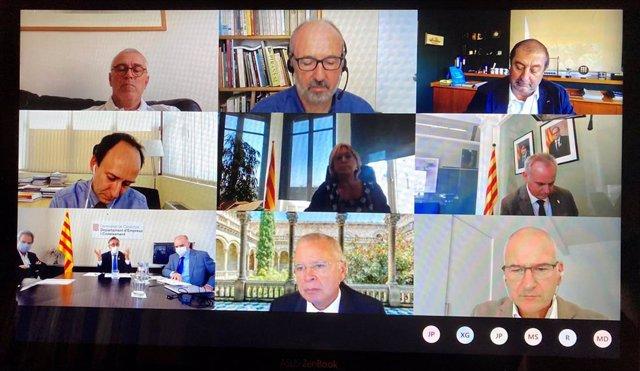 Reunión del conseller Ramon Tremosa con los rectores