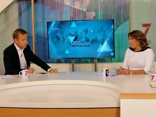 Susana Díaz, en una entrevista en 7TV Andalucía