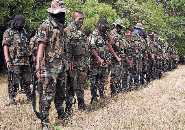 Tropas del 'Bloque Centauros' de las Autodefensas Campesinas de Cordoba y Uraba (ACCU) de Colombia.