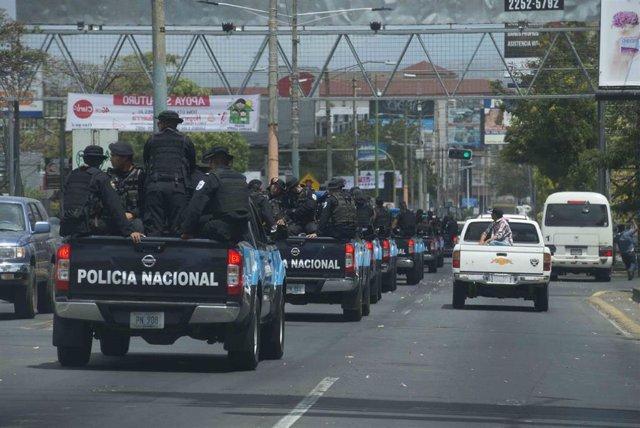 Despliegue policial en Nicaragua