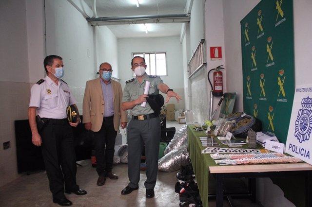 De izda a dcha, Honorio Pérez, Miguel Latorre y Andrés Velarde presentan la operación 'Escoba' en Soria.