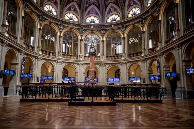 Vista de la Bolsa de Madrid (España)