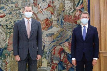 Rey Felipe.- El Rey recibe en audiencia a Feijóo en el Palacio de la Zarzuela