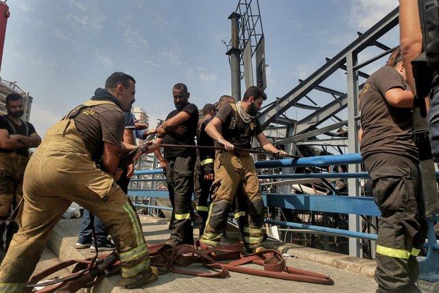 Líbano.- Extinguido un nuevo incendio en el centro de Beirut cerca del lugar de