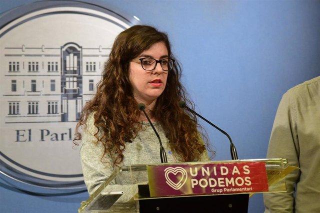 La portavoz adjunta de Unidas Podemos en el Parlament, Esperança Sans.