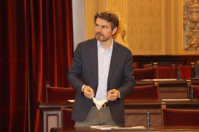 El portavoz del grupo parlamentario de Cs, Marc Pérez-Ribas
