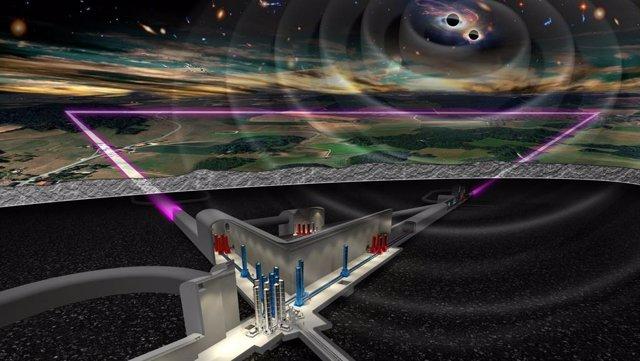 Ilustración del proyecto Telescopio Einstein