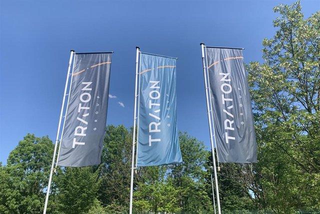 Logo de Traton (Volkswagen).