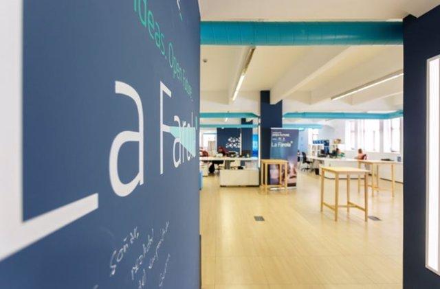 La Farola de Málaga, instalación para acelerar startups de base tecnológica del programa Andalucía Open Future, iniciativa conjunta de la Junta de Andalucía y Telefónica.