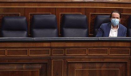 El PSOE y Unidas Podemos vuelven a frenar las explicaciones de Iglesias en el Congreso por el 'caso Dina'