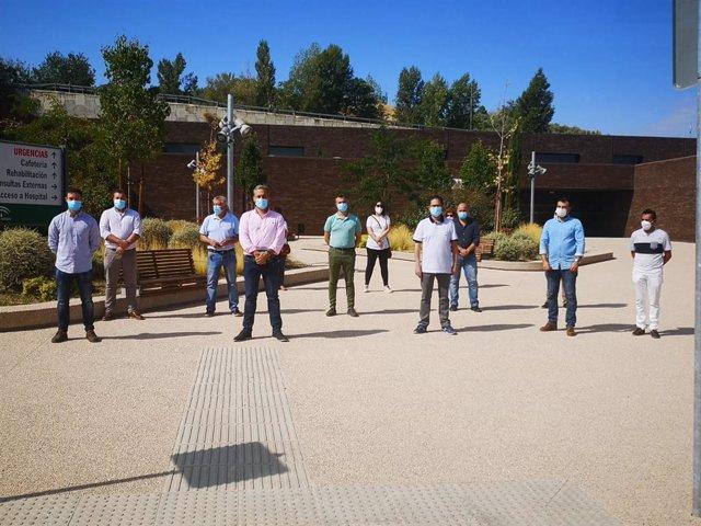 Alcaldes de la Sierra de Cazorla durante la concentración