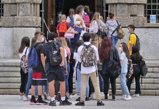 Reanudación del curso escolar en Bérgamo