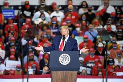 """O.Próximo.- Trump espera que los palestinos se sumen antes o después al plan de paz para no """"quedarse colgados"""""""