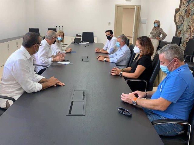 Reunión mantenida este martes en la Confederación Hidrográfica del Guadalquivir (CHG).
