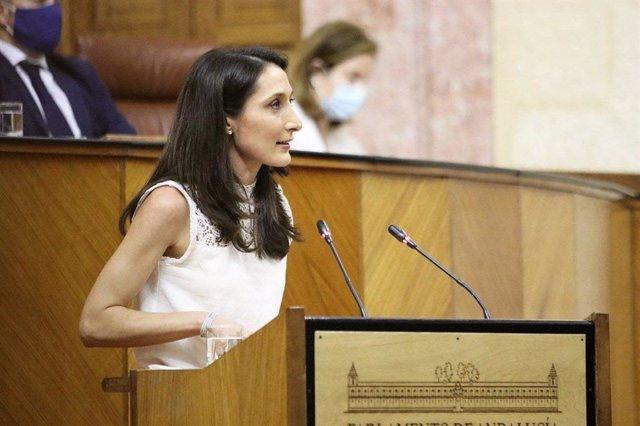 La portavoz adjunta de Cs en el Parlamento andaluz, Mónica Moreno, en una foto de archivo.