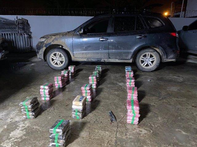 Droga incautada al gobernador panameño Erick Iván Martelo Robinson