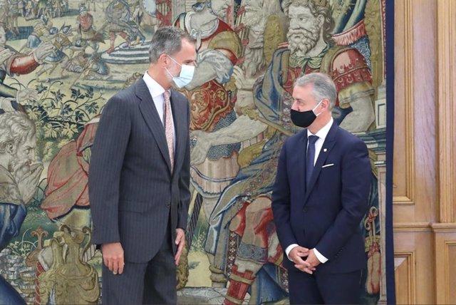 El Rey recibe en la Zarzuela a Urkullu, que acudía con intención de hablar del E