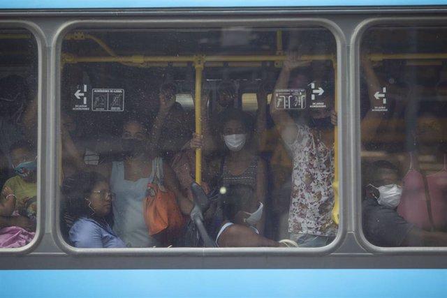 Autobús de la red pública de transportes de Río de Janeiro.