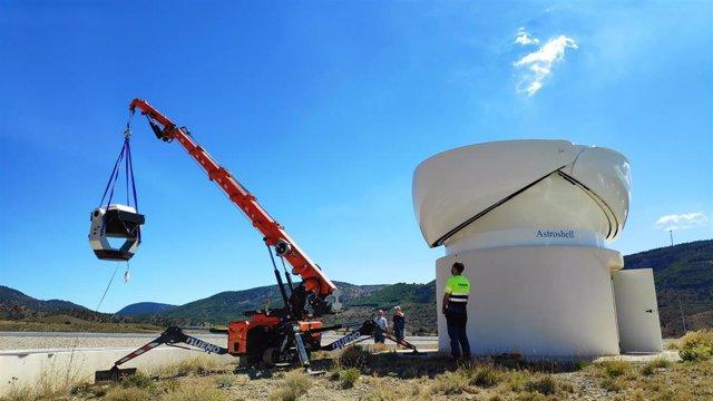 El centro Galáctica (Teruel) ya tiene instalados dos telescopios semiprofesionales dedicados a la observación del cielo