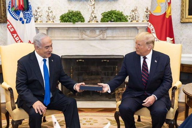 Donald Trump amb Benjamin Netanyahu a la Casa Blanca