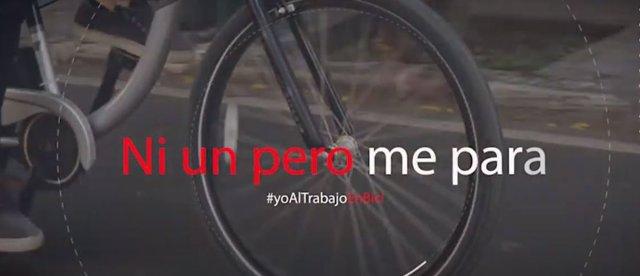Una imagen de la campaña #YoAlTrabajoEnBici