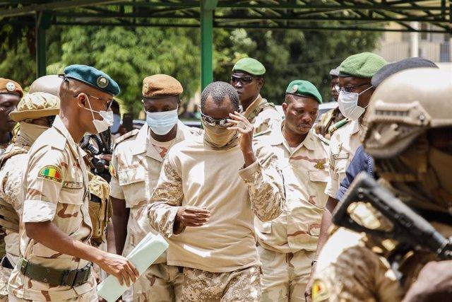 El coronel Assimi Goita, líder de la junta militar en Malí