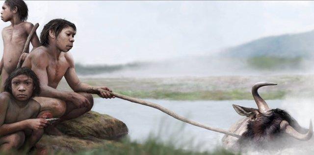 Los primeros humanos pudieron cocinar alimentos en aguas termales
