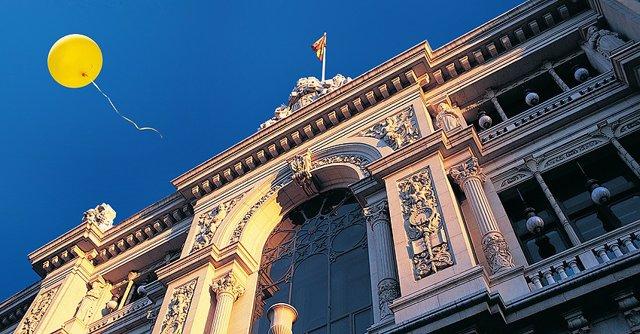 Vista de la seu del Banc d'Espanya.