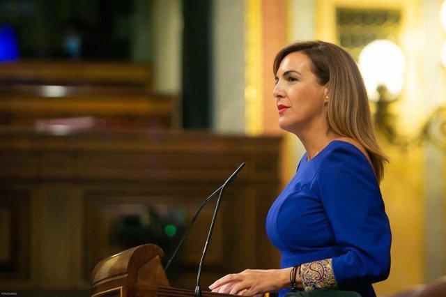 La diputada de Vox Patricia Rueda, en una intervención en el Pleno del Congreso