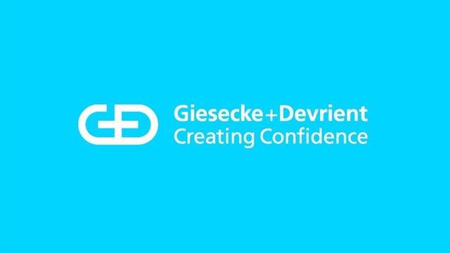 Logo de la compañía tecnológica Giesecke+Devrient (G+D)