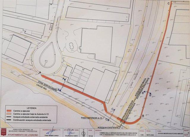 El Ayuntamiento hará un camino ciclo-peatonal bajo la A-13 que unirá los dos lad