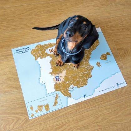 Lanzan el primer mapa rascable para potenciar el turismo nacional 'Dog Friendly'