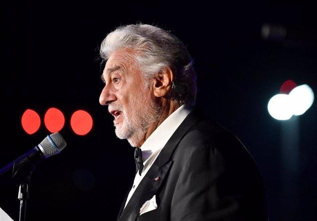 El tenor español Placido Domingo