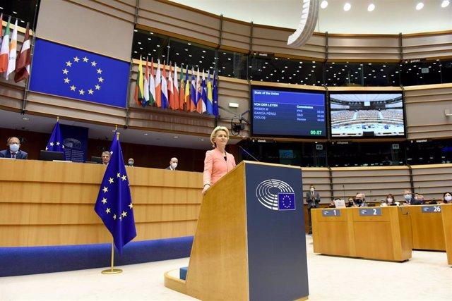 Ursula Von der Leyen habla ante el Parlamento Europeo