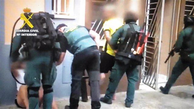 Imagen de detenciones en la operación contra el Clan de los Castañas