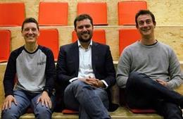 L'equip fundador: Natalia Piccinin, CRO; Pere Monràs, CEO i Enric Gilabert (CPO)