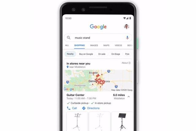 Mapas de productos en Google Compras.