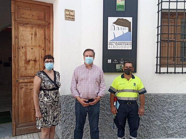 El delegado territorial en su visita a Alboloduy