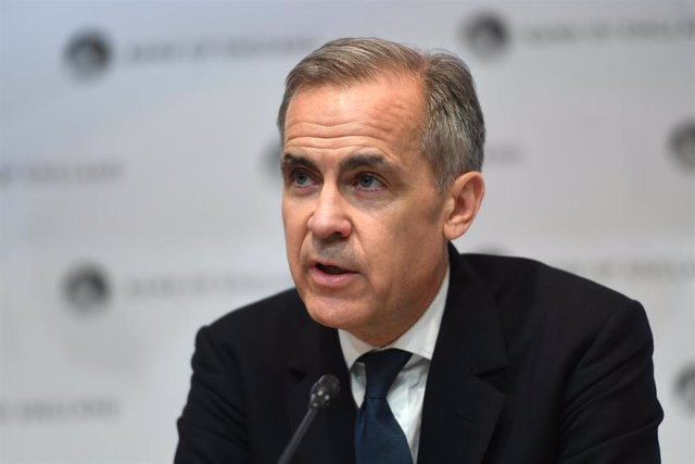 11 March 2020, England, London: Governor of Bank of England Mark Carney speaks during a press conference at the Bank headquarters after the announcement that the Bank cut Britain's base interest rate from 0.75 per cent to 0.25 percent, equalling the count