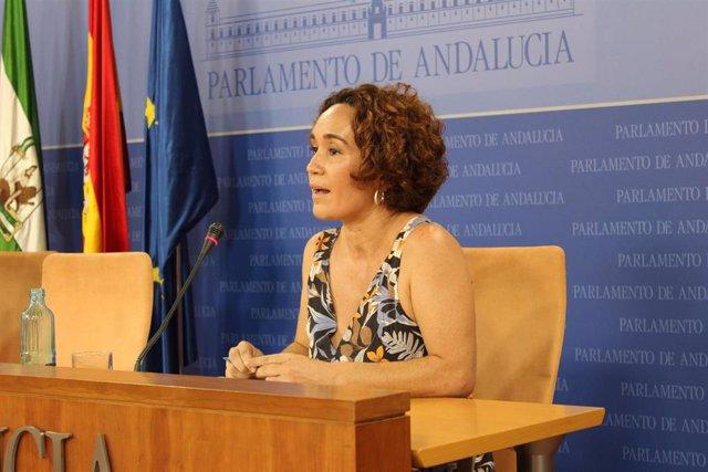 La portavoz de Educación de IU Andalucía y diputada de Adelante Andalucía en la Comisión de Educación, Ana Naranjo, en una foto de archivo