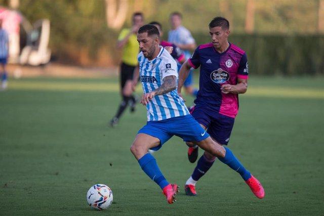 Tete Morente en un Málaga-Valladolid de pretemporada