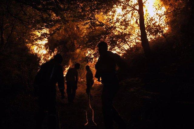 Incendio de Vilariño de Conso en Ourense