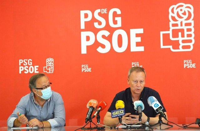 Rueda de prensa do PSOE en Ourense.