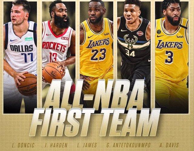 Baloncesto/NBA.- Luka Doncic cierran su gran año entrando en el mejor quinteto d