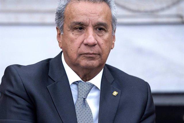 Lenín Moreno durante una visita a la Casa Blanca